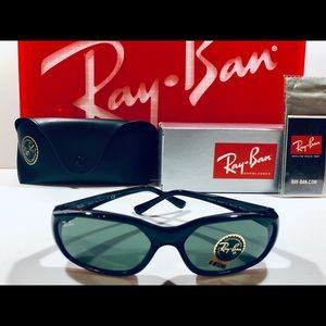 Ray-Ban Sunglasses Daddy-O Black w/ Green G-15